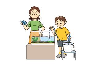水をリセットするイメージ
